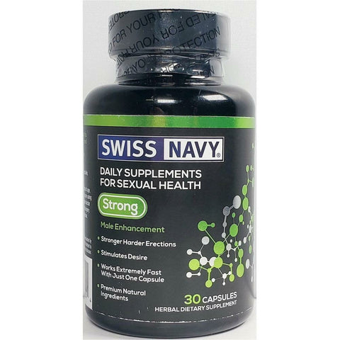 Swiss Navy Supplement (For Men) 30 Capsules (1 Pack) Mens Locker