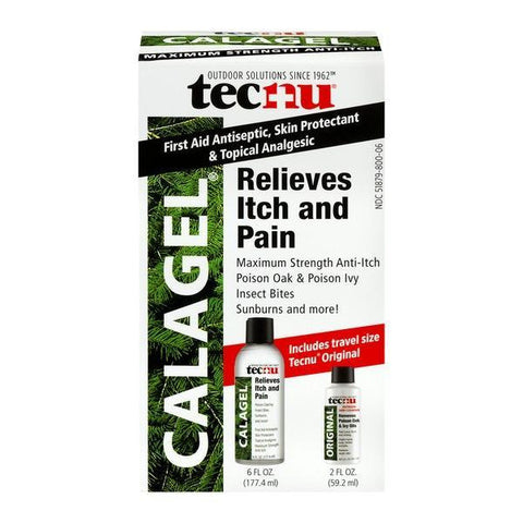 Tecnu Calagel Anti-Itch Gel, 6 fl oz (Travel size Included) -Exp Date 12/2020
