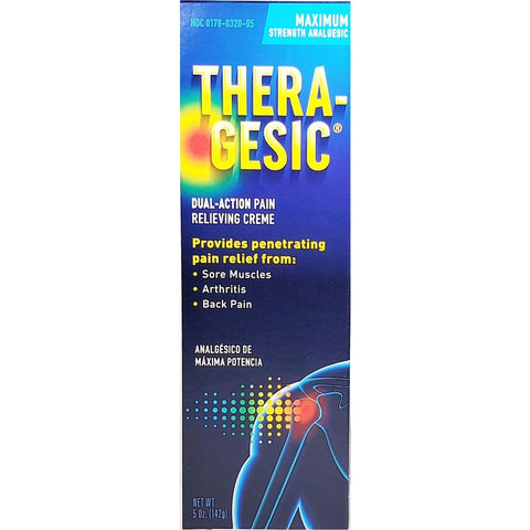 Theragesic Pain Relieving Cream 5 Oz Each (1 Or 3 Pack) 1 Pack & Fever