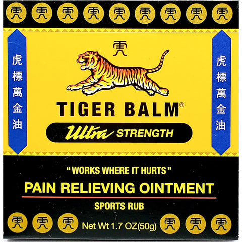 Tiger Balm, Pain Relieving Ointment (Sports Rub) 1.7 oz