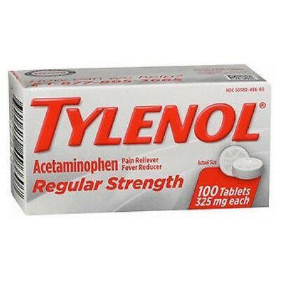 Tylenol (Regular Strength) Pain Reliever/fever Reducer 325 Mg Each 100 Tablets (1 Pack) & Fever