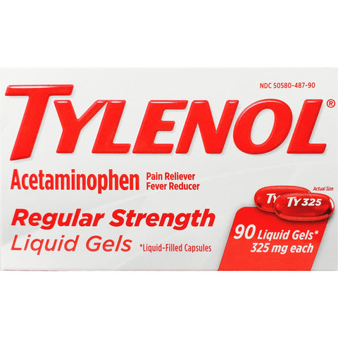 Tylenol, Acetaminophen 325 mg 90 Liquid Gels