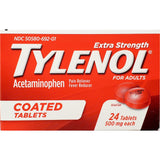 Tylenol Extra Strength, 500 mg Each 24 Coated Tablets