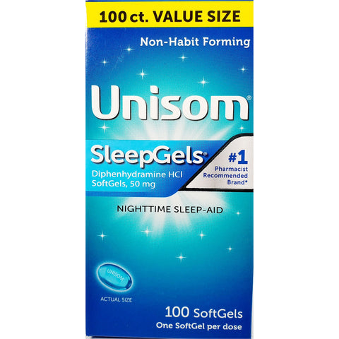 Unisom Sleep Gels, 50 mg 100 Softgels