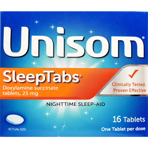 Unisom Sleep Tabs 25 mg, 16 Tablets