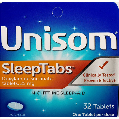 Unisom Sleep Tabs 25 mg, 32 Tablets