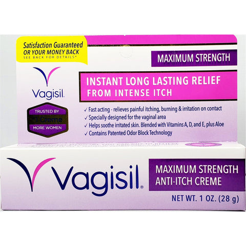 Vagisil Maximum Strength Anti-Itch Cream, 1 oz