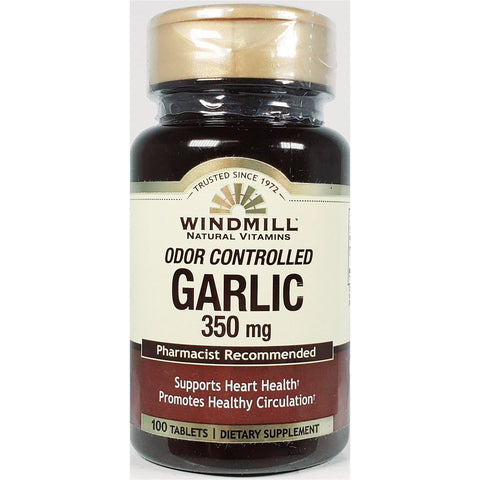 Windmill Garlic (Odor Controlled), 350 mg 100 Tablets