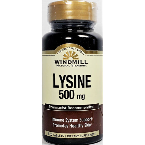 Lysine 500 mg, by Windmill (Immune Support) 120 Tablets