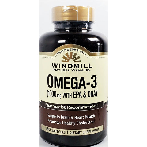 Windmill Omega 3, 1000 mg 180 Softgels
