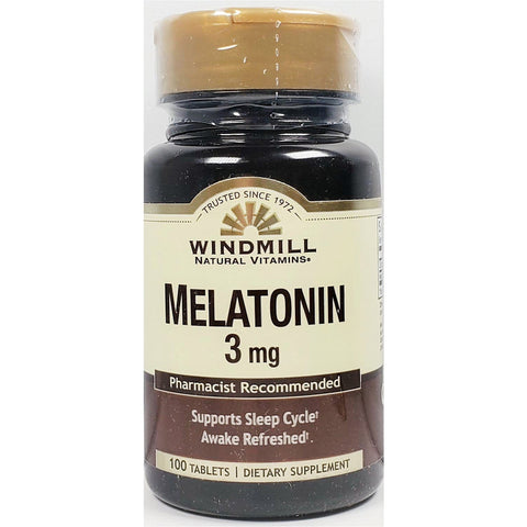Windmill Melatonin, 3 mg 100 Tablets
