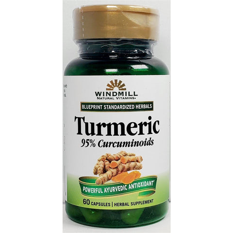 Windmill Turmeric Extract, 1000 mg  60 Capsules
