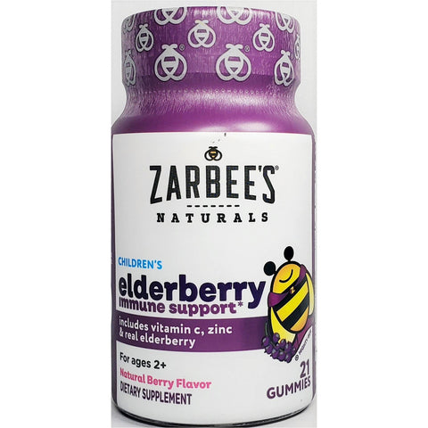 Zarbee's Naturals Children's Elderberry (Immune Support), 21 Gummies