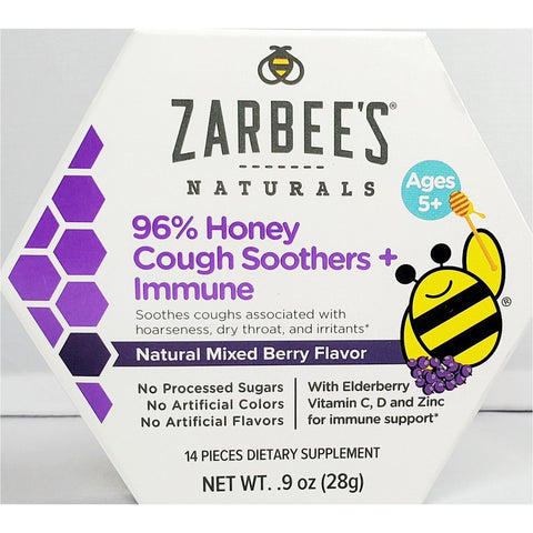 Zarbee's Naturals Cough Soothers + Immune Support (Mixed Berry)