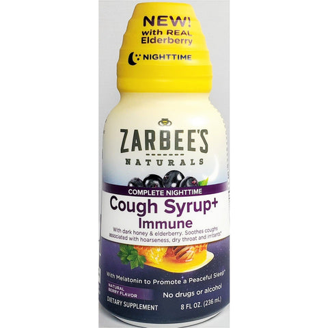Zarbee's Naturals Nighttime Cough Syrup + Immune Support