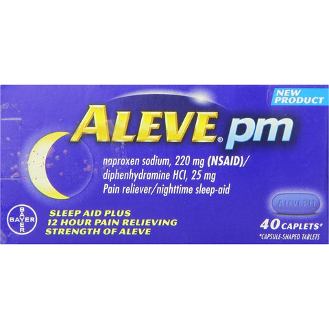 Aleve PM, 40 Caplets (1 Pack)