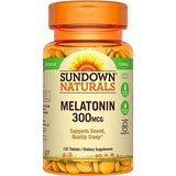 Sundown Naturals Melatonin 300 mcg, 120 Tablets (1 Pack)