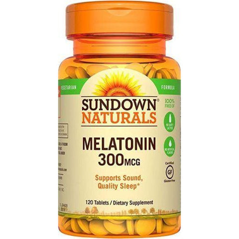 Sundown Naturals Melatonin 300 Mcg 120 Tablets (1 Pack) Sleep Aids