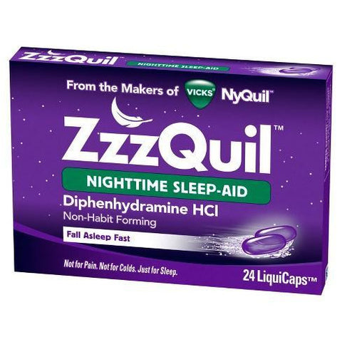 Vicks Zzzquil Nighttime Sleep Aid 24 Liquicaps Each (1 Or 2 Pack) 1 Pack Aids