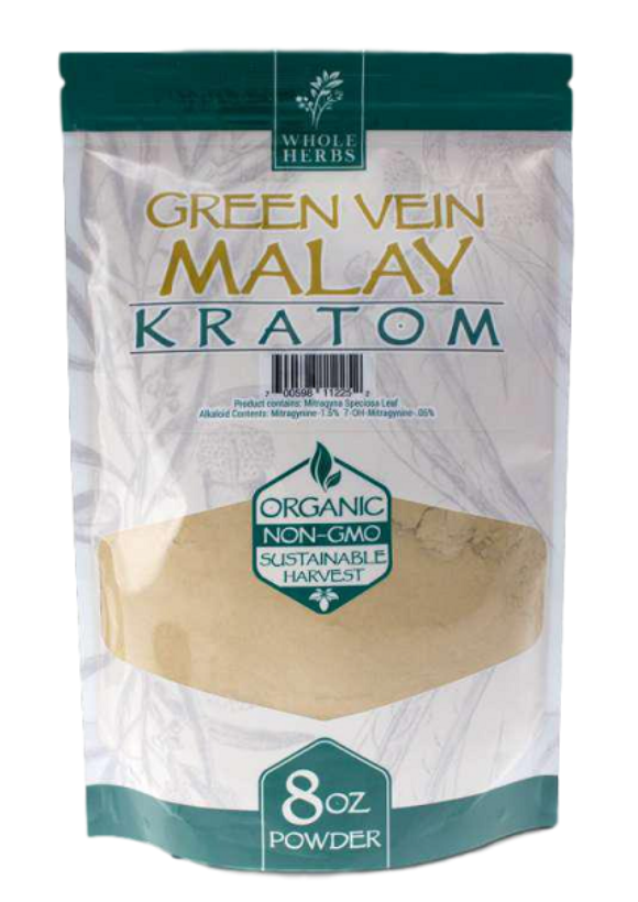 Whole Herbs – Green Vein Malay Kratom Powder