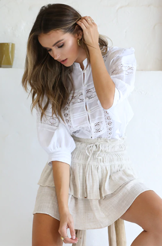 Daisy White Blouse