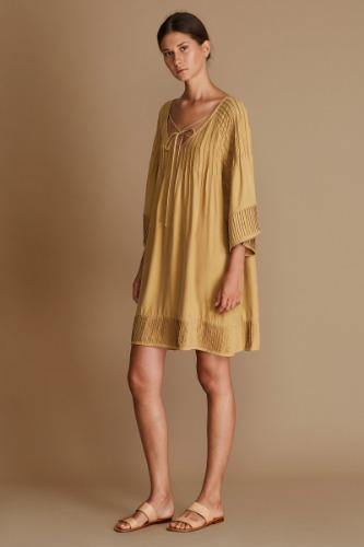 Annie Dress-Honey - Kendi Boutique
