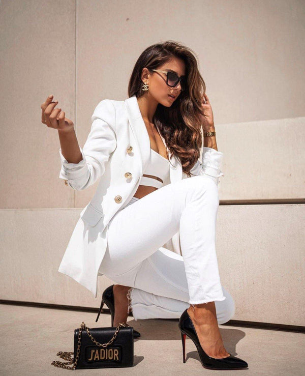 The Signature Blazer-White - Kendi Boutique