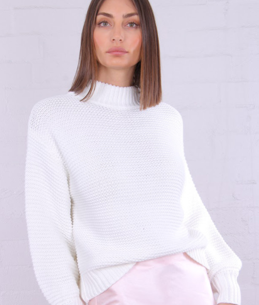 Elie Knit Sweater-White