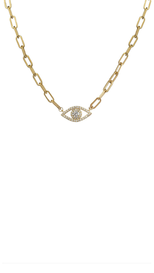 Clara Eye Necklace - Kendi Boutique