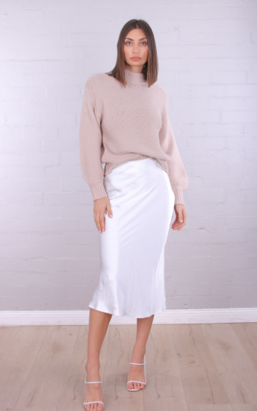 Elie Knit Sweater-Beige