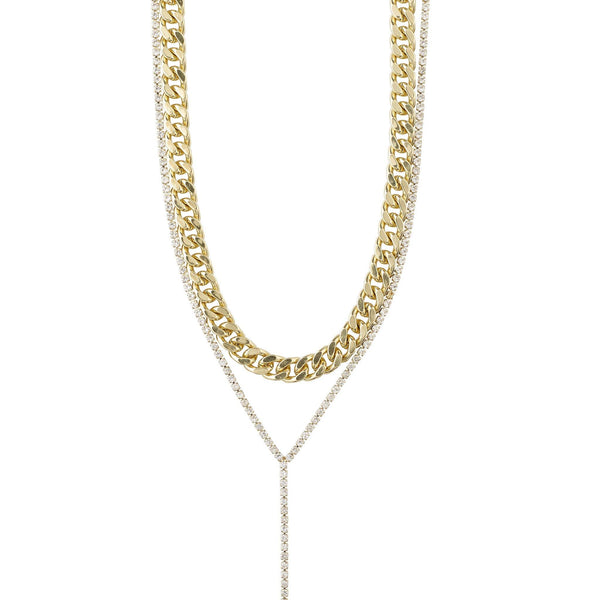Curb Chain  2-in-1 Necklace - Kendi Boutique