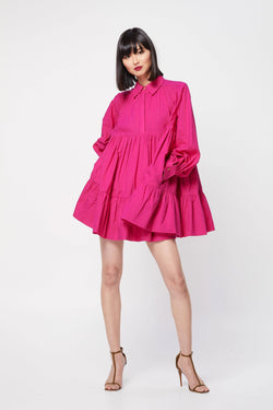 Fuchsia Dress - Kendi Boutique