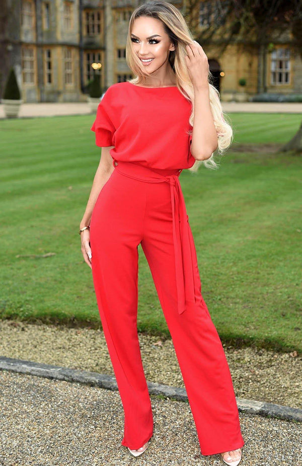 Jolie Jumpsuit-Red
