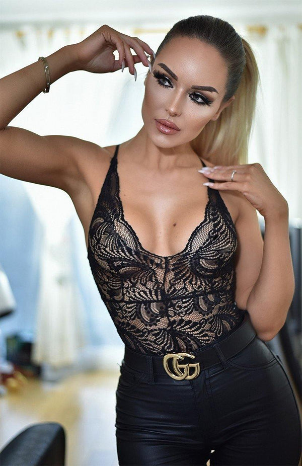 Lace Black Bodysuit