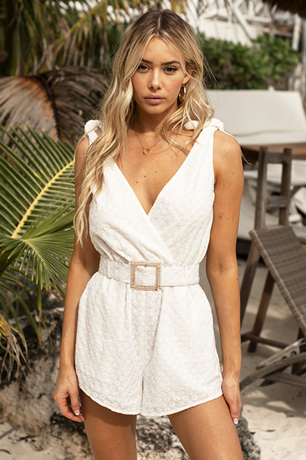 Clara Playsuit-White