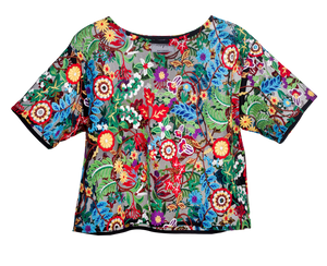 Top curto floral
