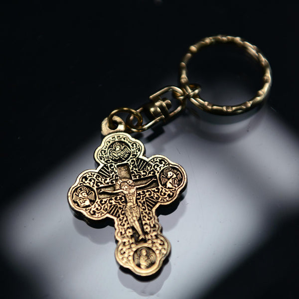 KEYCHAIN -GREEK CROSS GD COLOR 22-079