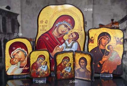 ICON PLQ/BOOK HOLY FAMILY22-093