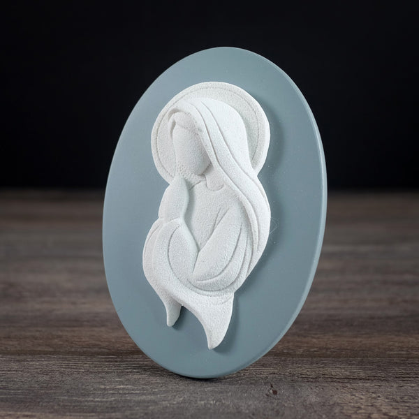 OVAL PLAQUE VIRGIN MARY PRAYING 4x622-451