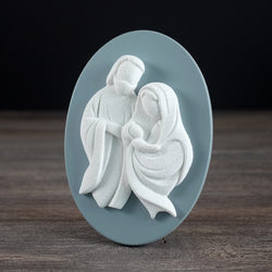 HOLY FAMILY OVAL PLAQUE 4