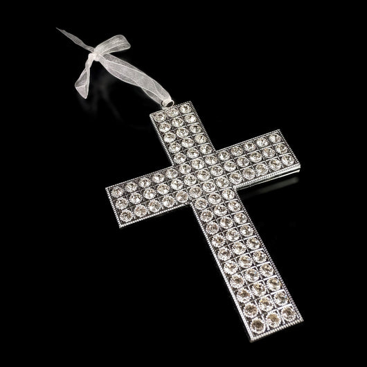 HANGING CROSS  W/CRYSTALS 5x822-537