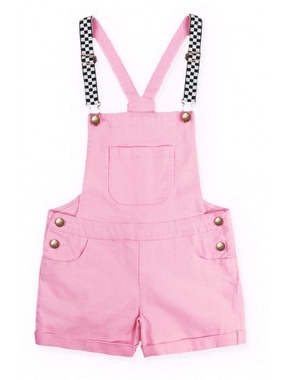 Checker Girl Pink Overall