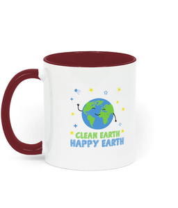 Clean Earth Two Toned Ceramic Mug