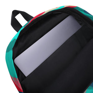 ZigZag Teal Backpack