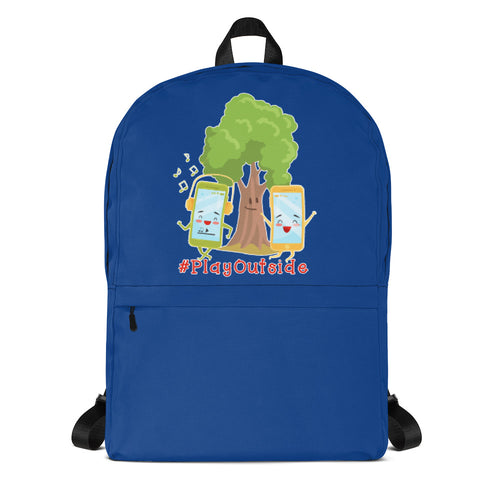 Play Outside Blue Backpack