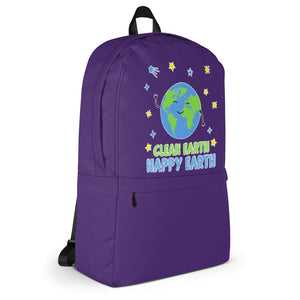 Clean Earth Purple Backpack