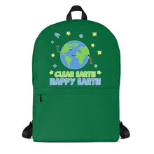 Load image into Gallery viewer, Clean Earth Green Backpack