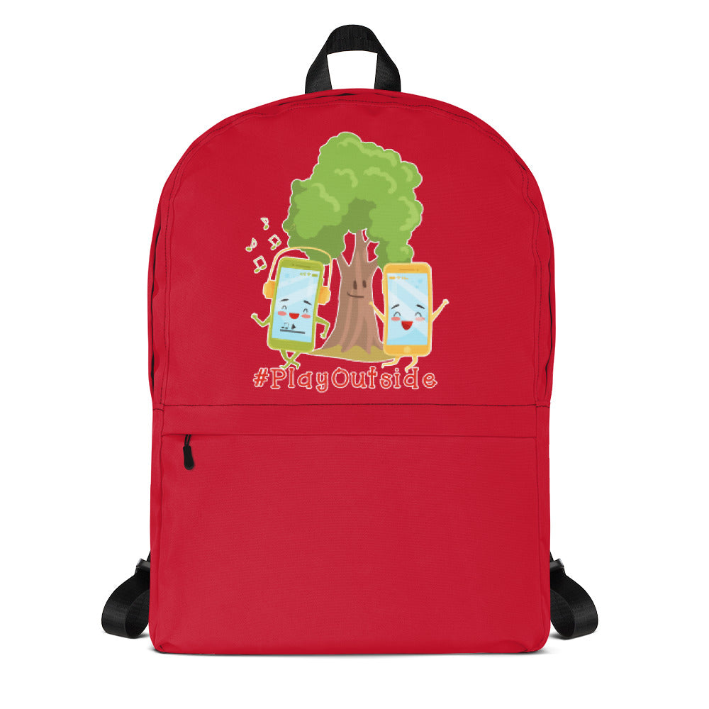 Play Outside Red Backpack