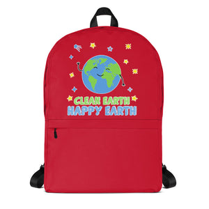 Clean Earth Red Backpack
