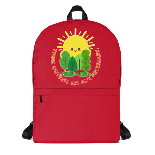 Think Outside Red Backpack